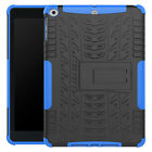 """New for iPad 9.7"""" Pro Air 2017 Rugged Rubber + PC Shockproof Hybrid Case Stand"""