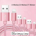 1/2/3m Apple Certified USB Lightning Charge Data Transfer Cable For iphone 7/6/5