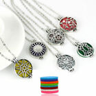 1 Locket Pendant Necklace Aromatherapy Scent Perfume Various Designs + 3 inserts