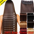 real remy clip in 100 human hair extensions one piece 3 4 full head highlight