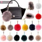 NEW FLUFFY FAUX FUR ZIPPED COIN BAG WALLET KEY HOLDER KEYRING KEYCHAIN