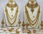 Wedding Indian Fashion jewellery complete wedding bridal necklace earring tikka