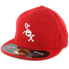 "New Era 5950 Chicago White Sox ""SE12 1972"" Fitted Hat (Scarlet Red) Men's Cap"