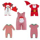 Infant Baby Boys Girls Santa Romper Xmas Snowman Costumes Toddler Outfit Clothes