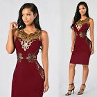 Women Sexy Bandage Bodycon Floral Evening Party Cocktail Short Mini Dress USA