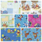 100% COTTON PATCHWORK/CRAFT FABRIC WINNIE THE POOH AND FRIENDS 7 DESIGNS