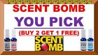 (BUY 2 GET 1 FREE) SCENT BOMB 100% Concentrated Air Freshener Spray (U-PICK) 20