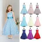 Flower Girl Dresses Bridesmaid Wedding Ball Gown Party Birthday Princess Pageant