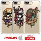 iPhone Silicone Cover Case Star wars Storm trooper Bobba Fett Heads - Coverlads $14.95 AUD