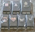 Retired Stampin' Up PUNCHES-butterfly, heart, shapes, jolly hat - you pick- New!