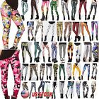 Women 3d Graphic Print Skinny Leggings Stretch Punk Gothic Casual Pants Trousers