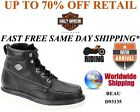 Harley Davidson D93135 Mens Beau Black Leather Riding Motorcycle Boots