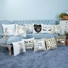 Letters & Trees Polyester Throw Pillow Case Sofa Cushion Cover Home Xmas Decor