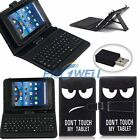 """7"""" 8"""" 10.1"""" LG G Pad Android Tablet Leather Folio Stand Case Cover With Keyboard"""