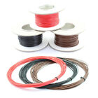 33 AMP Single Core Stranded Copper Cable 12v 24v Thin Wall Wire RED BLACK BROWN