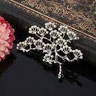 Women Faux Pearl Large Pine Tree Branch Wedding Bride Lady Banquet Pin Brooch
