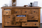 New Handmade Bespoke Rustic Solid Wood Multiple Drawer Chest - Free Standing