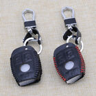 PU Leather 3 Button Remote Smart Key Cover Fob Case Holder Fit For Mercedes Benz