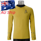 Cosplay Star Trek TOS Captain Kirk Shirt Uniform Yellow Costume Men's Shirt New