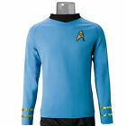 Cosplay Star Trek TOS Captain Kirk Shirt Uniform Blue Costume Men's Shirt New on eBay