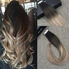 skin weft hair extensions - 20pcs50g Skin Weft Tape in Human Hair Extensions Blonde Highlighted Ombre Color