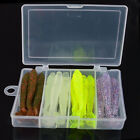 24PCS Soft Worm Fishing Baits Lure Lead Jig Head Hook Silicone Swimbait Tackle