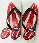 ROLLING STONES OFFICIAL RISING SUN LIPS & TONGUE MEN'S SYNTHETIC RUBBER THONGS