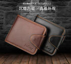 Hot Stylish Billfold Men Leather Trifold Wallet Coin Pocket ID Card Clutch Purse