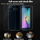 Front + Back Thin Full Screen Protector Film For Samsung Galaxy S8 S7 S6 Edge +
