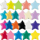 Qualatex Unifarben Star geformt Folie Party Ballons Dekoration { Luft/Helium }