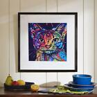 Abstract Cat Canvas Print Oil Painting Unframe Picture Home Wall Art Mural 01