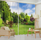 window treatments corner windows - Window Curtains Mural Garden Corner Scenery 3D Printing Blockout Drapes Fabric
