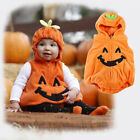 Baby Toddler Pumpkin Halloween Costume Fancy Dress Romper Vest Outfits Tights