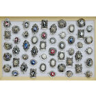 Wholesale Lots Mixed 5/10/15/20pcs Women Silver Shell Bands Rings Jewelry Resale