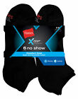 Hanes Men's X-Temp Comfort Cool No Show 6-Pack FreshIQ Black or White 6-12 Wicks