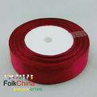 "22 Meters/Roll Satin Ribbons Single Sided Faced 12mm 1/2"" Width Wedding Craft"