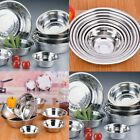 Внешний вид - Stainless Steel Kitchen Cooking Serving Mixing Soup Bowls 3 Sizes