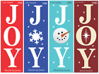 Joanie STENCIL Vertical JOY Snowflake Snowman Nativity Star Dust Winter Art Sign
