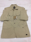 MENS TIMBERLAND SLIM FIT TRENCH COAT ZIP BUTTONS POCKETS IVORY SIZE SMALL/XL