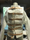 High end Halloween costume Custom straight jacket leather trim & straps.  Medium