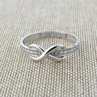 14k White Gold Cubic Zirconia Band Infinity Ring