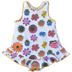 NWT Claesen's Baby Girls Flower Print on White Cotton One Piece Dress