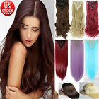 Women 8pieces Full Head Clip in Hair Extensions Real Natural For Human Hair XY92