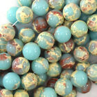 "Synthetic Blue Sea Sediment Jasper Round Beads 15.5"" 4mm 6mm 8mm 10mm 12mm"