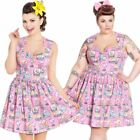 Hell Bunny Maxine Flamingo Mini Dress Rockabilly Retro Cute Summer Florida