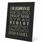 dry white wines list - Click Wall Art List Of Wine Textual Art in Black and White