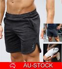 MENS SHORTS GYM TRAINING RUNNING BODYBUILDING SPORT WORKOUT CASUAL JOGGING