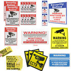 5/8/10Pcs Surveillance Warning Security  Video Alarm Safety Stickers Signs Decal