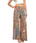 On Trend For Less Womens Mixed Print Palazzo Pants