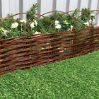 Garden Willow Lawn Edging 1M Arched Panel Flower Bed Border Hurdle Pathway Drive
